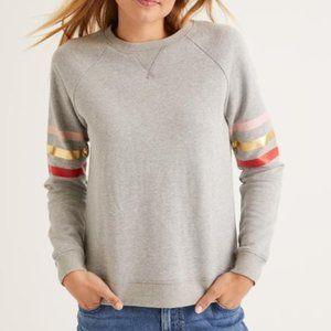 Boden the sweatshirt Striped Sleeve Pullover Sweatshirt size XS